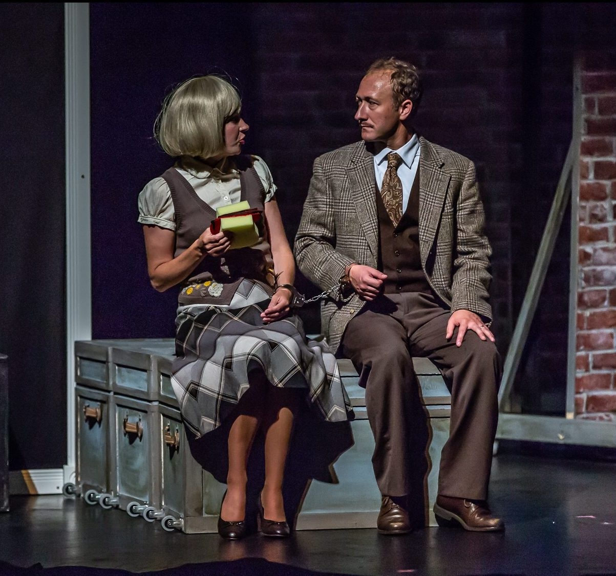 Erin Mackinnon & Perry in THE 39 STEPS at Port Hope Capitol Theatre