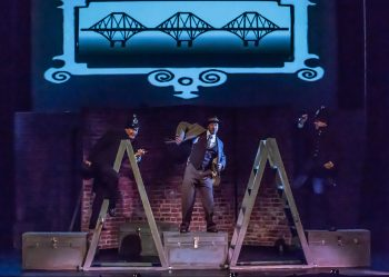 Sweeney MacArthur, Perry & Sean Hauk in THE 39 STEPS at Port Hope Capitol Theatre