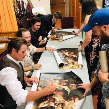 Brotherhood Premiere - signing posters
