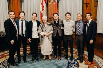 Richard Bell, Daniel Gravelle, Evan Marsh, Lieutenant Governor of Ontario Elizabeth Dowdeswell, Spencer Macpherson, Mike Taylor, Perry & Matthew Isen