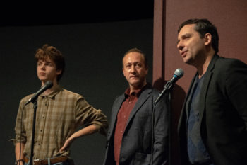 Sam Ashe Arnold, Perry and Writer/Director Richard Bell at the BROTHERHOOD Q&A at the HIFF