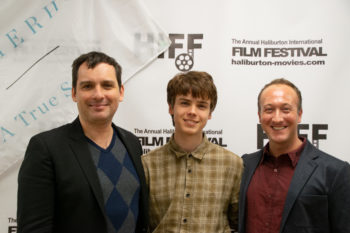 Richard Bell, Sam Ashe Arnold & Perry at the Haliburton International Film Festival